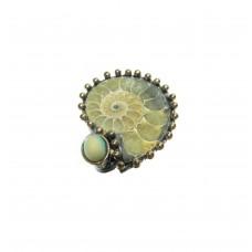 Silver Ammonite Ring