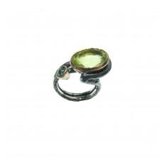 Silver Lemon Quartz Ring