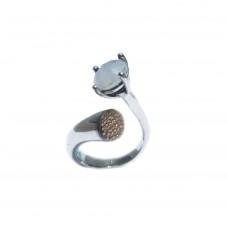 Silver White Labradorite Ring