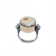 Silver Fire Opal Ring