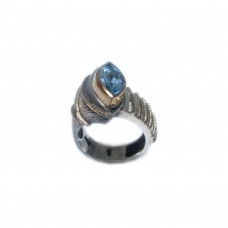 Silver  Sky Blue Topaz Ring