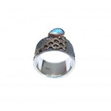 Silver  Australian Opal Ring