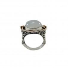 Silver White Moon Stone Ring