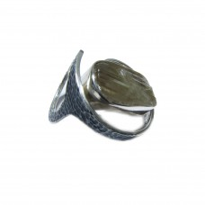 Silver Rough Zultanite Ring