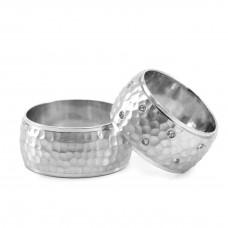 Silver Hand Made Wedding Band