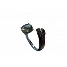 Silver Citrine Ring